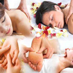 massage tête nuque crane visage dos main bras jambes